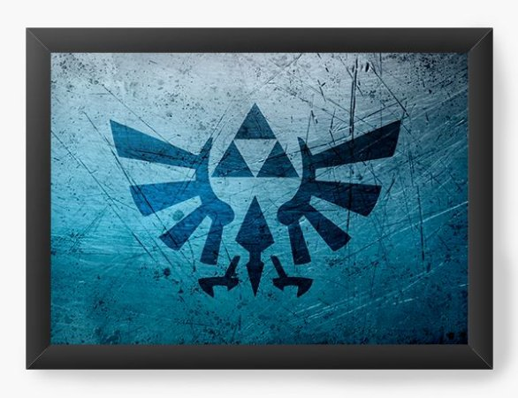 Quadro Decorativo The Legend of Zelda Blue Triforce