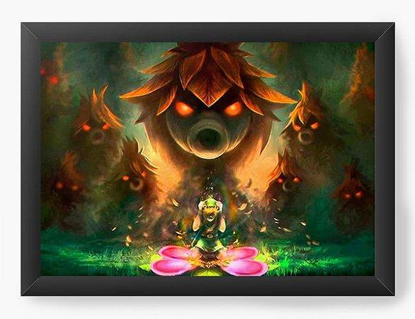 Quadro Decorativo The Legend of Zelda In Danger