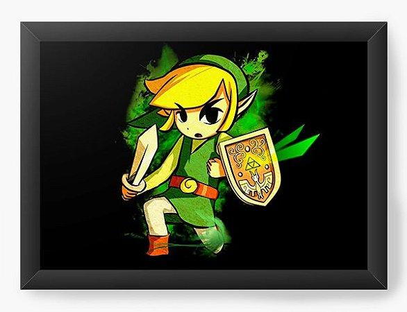 Quadro Decorativo The Legend of Zelda In Anime