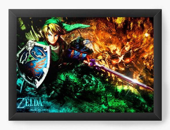 Quadro Decorativo The Legend of Zelda Link character