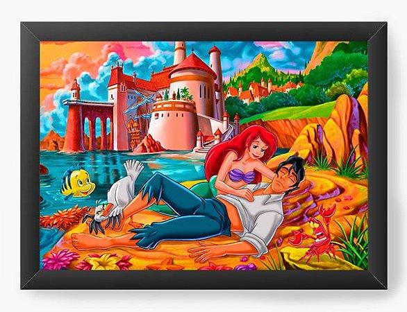Quadro Decorativo Ariel e Príncipe Eric