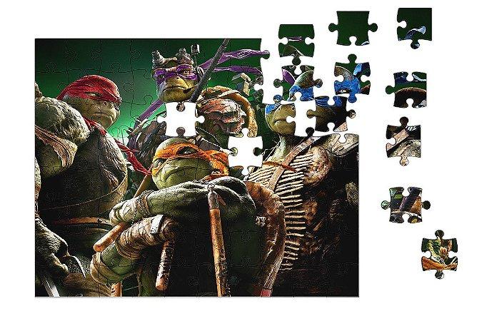 Quebra-Cabeça Tartarugas Ninjas 90 pçs