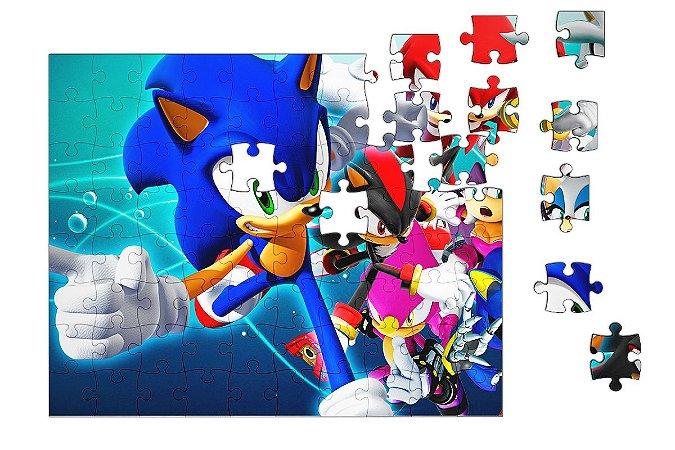 Quebra-Cabeça Sonic Game 90 pçs