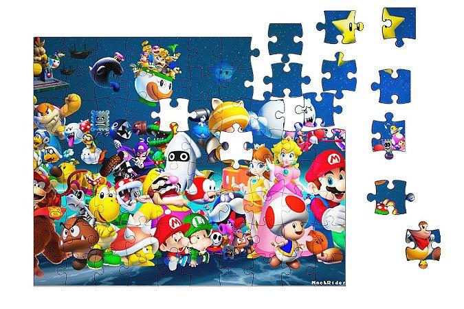Quebra-Cabeça Super Mario Word - Game 90 pçs