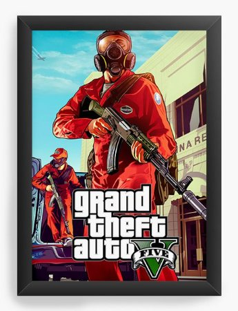 Quadro Decorativo The Grand Theft Auto Five