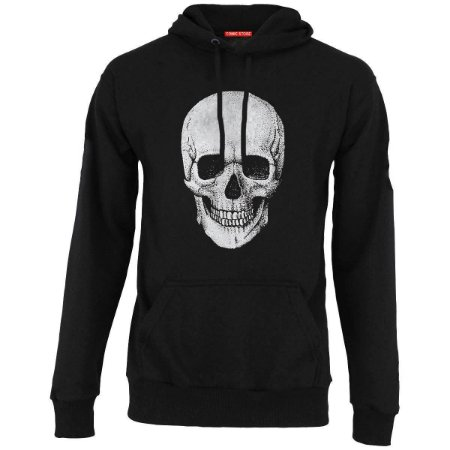Blusa com Capuz Skull Smile