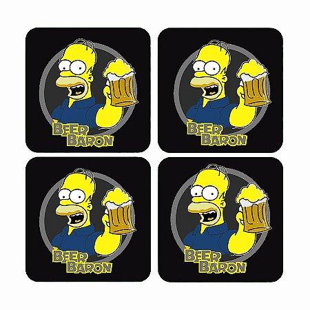 Porta Copos Homer Simpsons