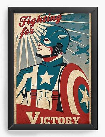 Quadro Decorativo Capitão America Victory