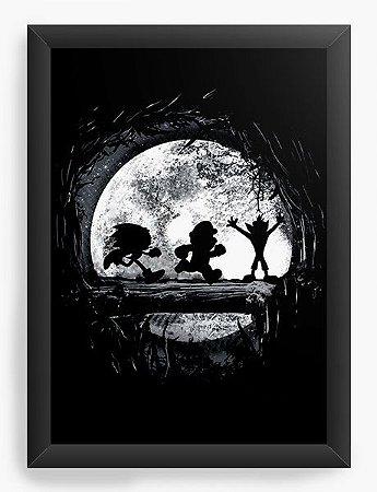 Quadro Decorativo Mario, Sonic