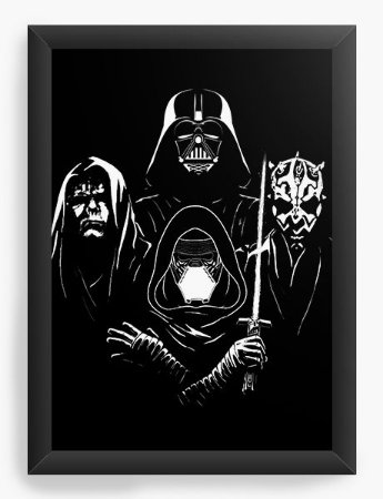 Quadro Decorativo Darth Vader Dark