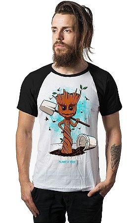 Camiseta Raglan Guardiões da Galáxia