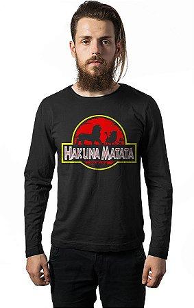 Camiseta Manga Longa Hakuna Matata