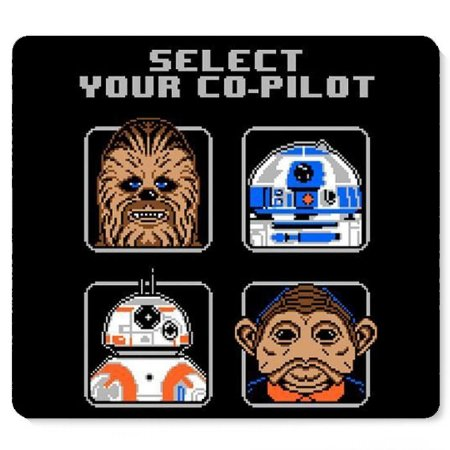 Mouse Pad Star Wars - Select your co-pilot