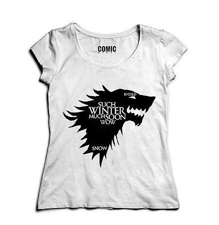 Camiseta Feminina Game of Thrones Winter