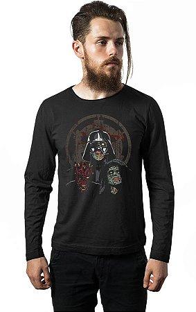 Camiseta Manga Longa Darth Vader Zombi