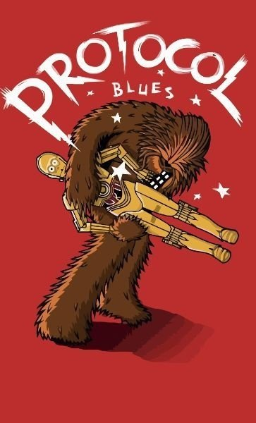 Camiseta Star Wars Protocol Blues