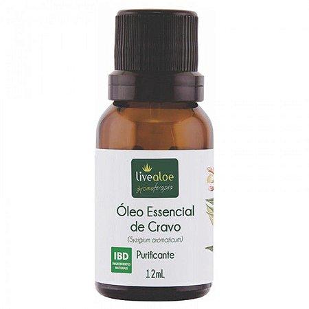 Óleo Essencial  Cravo ( Syzygium aromaticum) LIVEALOE 12 ml