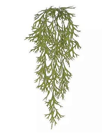 Folhagem Artificial Chifre-de-Veado Pendente Verde 76cm