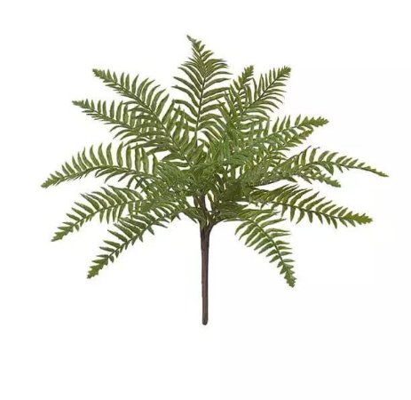 Folhagem Artificial Samambaia Real Toque Verde 45cm