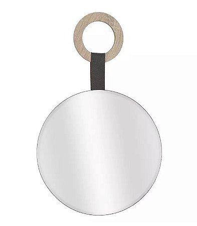 Espelho Redondo Para Pendurar MDF 30x30cm