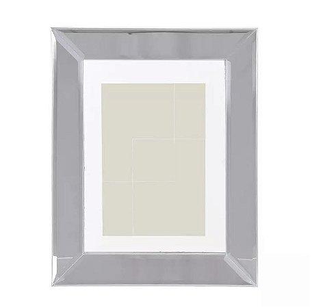 Porta-retrato MDF Espelhado Prata 15x20cm