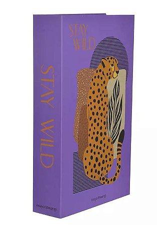 Caixa Decorativa Stay Wild Roxa 27x17cm