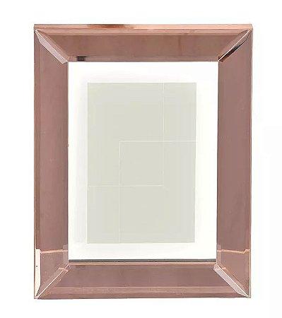 Porta-retrato MDF Espelhado Rosé 15x20cm