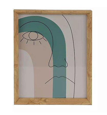 Porta-retrato MDF Amadeirado Marrom 20x25cm