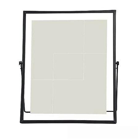 Porta-retrato Metal Vidro Preto 20x25cm