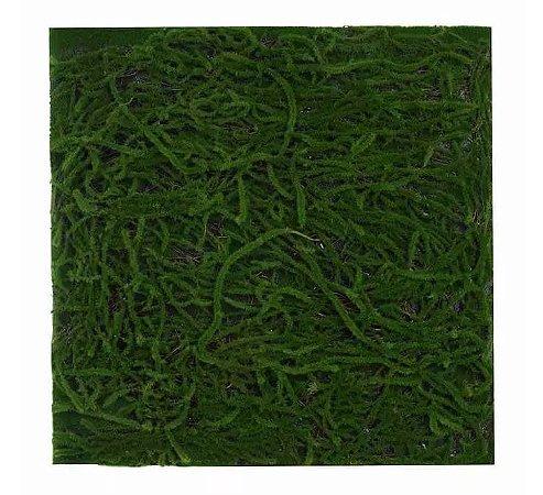 Folhagem Artificial Placa Musgo Trat. Acústico Verde Escuro 50x50cm
