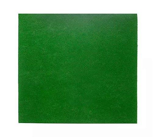 Folhagem Artificial Placa Musgo Trat. Acústico Verde Liso 1x1m