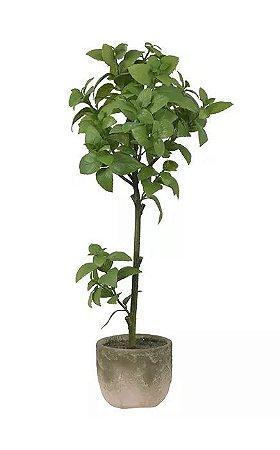 Planta Artificial Manjericão Verde 78cm