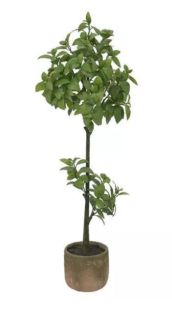 Planta Artificial Manjericão Verde 1,1m