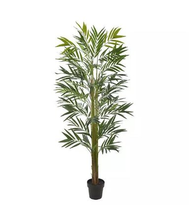 Planta Árvore Artificial Palmeira Bambu Real Toque Verde 1,8m