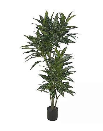 Planta Árvore Artificial Dracena Real Toque Verde Creme 1,90m
