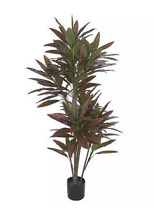 Planta Árvore Artificial Dracena Real Toque Verde Vermelho 1,9m