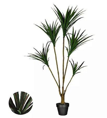 Planta Árvore Artificial Dracena Marginata Verde Vermelho 1,2m