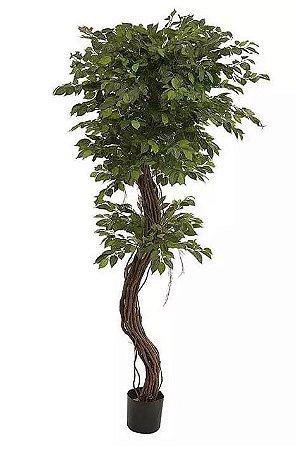 Planta Árvore Artificial Ficus Luxo Verde 1,8m