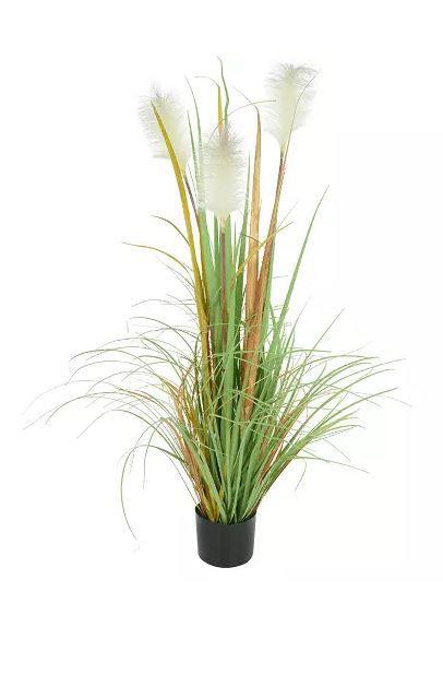 Planta Árvore Artificial Grass Plumas Verde Outono 1,2m