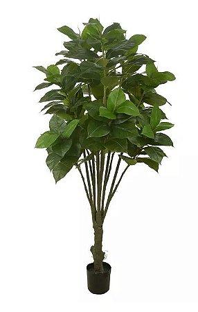 Planta Árvore Artificial Ficus Elástica Real Toque Verde 1,8m