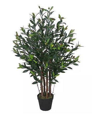 Planta Árvore Artificial Oliveira Verde 95cm