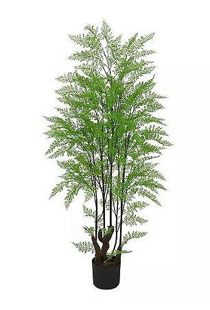 Planta Árvore Artificial Samambaia Com Print Verde 1,5m
