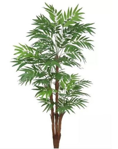Planta Árvore Artificial Palmeira Viajante com Pote Verde 1,6m