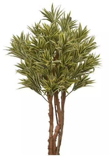 Planta Árvore Artificial Dracena Reflexa Amarelo Verde 1,2m