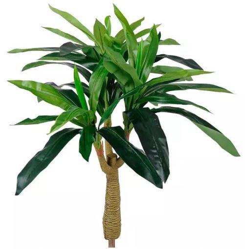 Planta Árvore Artificial Dracena Real Toque Verde 90cm