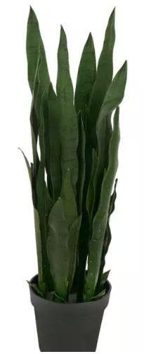 Planta Árvore Artificial Espada-de-São-Jorge Verde Escuro 80cm