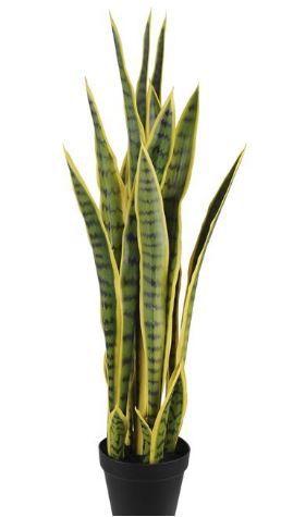 Planta Artificial Árvore Espada-de-São-Jorge Verde Claro 90cm