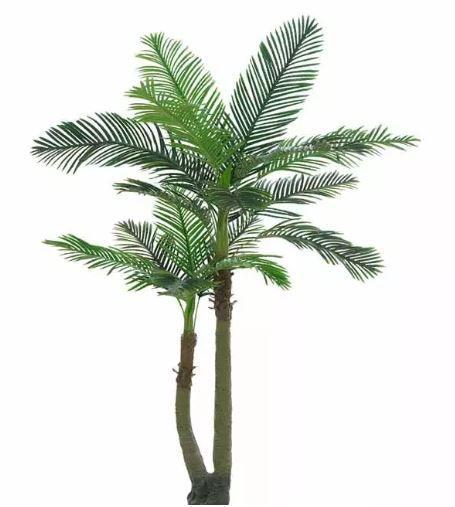 Planta Árvore Artificial Palmeira Real Toque Verde 2,2m