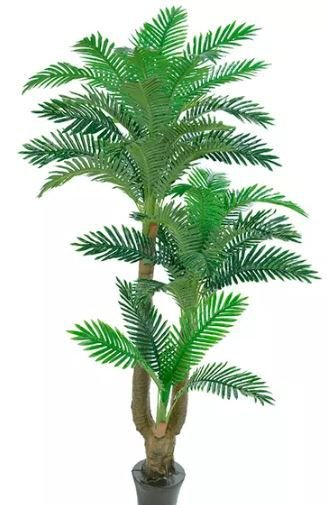 Planta Árvore Artificial Palmeira Real Toque Verde 2 Tons 1,8m