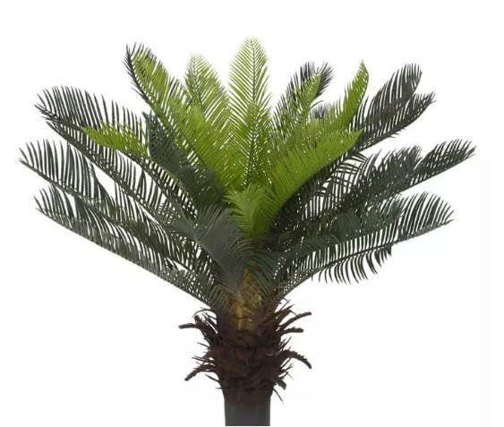 Planta Árvore Artificial Palmeira Cycas Verde 60cm